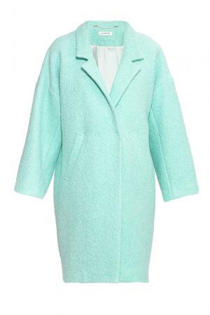 Flashin Пальто из шерсти с вискозой 176553 Flashin'. Цвет: зеленый