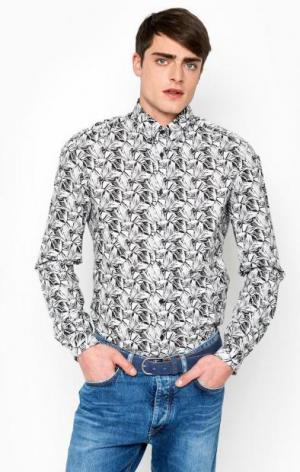 Приталенная рубашка из хлопка DRYKORN. Цвет: черный