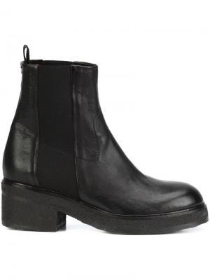 Ботинки на массивном каблуке Chuckies New York. Цвет: чёрный