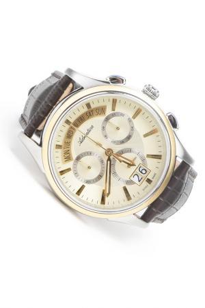 Часы наручные Adriatica. Цвет: желтый, шампань, стальной