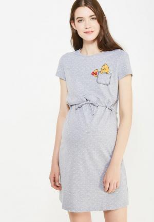 Платье домашнее Budumamoy. Цвет: серый