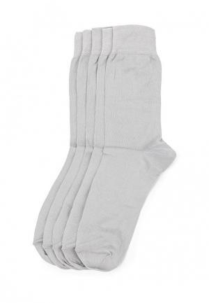 Комплект носков 5 пар Uomo Fiero. Цвет: серый