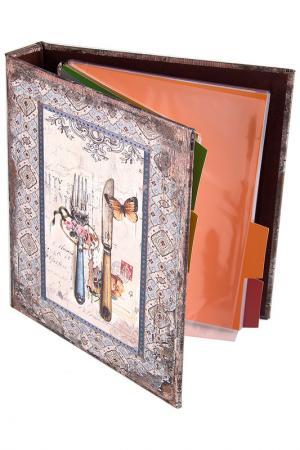 Книга для записи 18х23х4см Русские подарки. Цвет: оранжевый