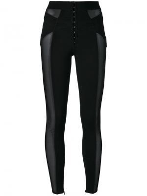 Спортивные брюки с контрастным дизайном Murmur. Цвет: чёрный