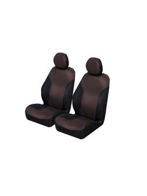 Накидки на передние сиденья AvtoTink. Цвет: черный, коричневый