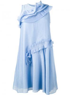 Расклешенное платье Carven. Цвет: синий