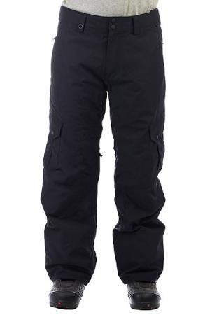 Штаны сноубордические  Porter Black Quiksilver. Цвет: черный