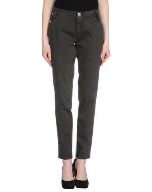 Повседневные брюки CARLO CHIONNA. Цвет: темно-зеленый