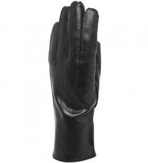Кожаные перчатки с шерстяной подкладкой Bartoc. Цвет: черный