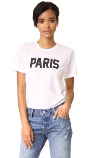 Футболка Paris Private Party. Цвет: белый