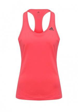 Майка спортивная adidas Performance. Цвет: розовый