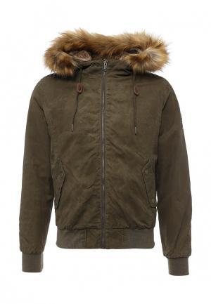Куртка утепленная Bomboogie. Цвет: хаки