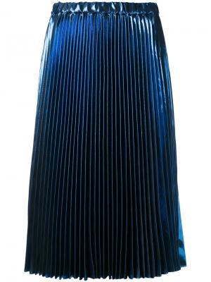 Плиссированная юбка Nº21. Цвет: синий