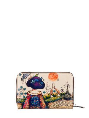 Кошелек женский Bagsberry. Цвет: бежевый