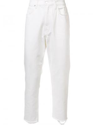 Укороченные джинсы Second/Layer. Цвет: белый