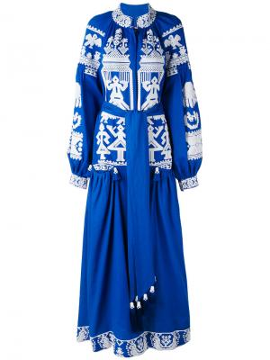 Платье Swan Yuliya Magdych. Цвет: синий