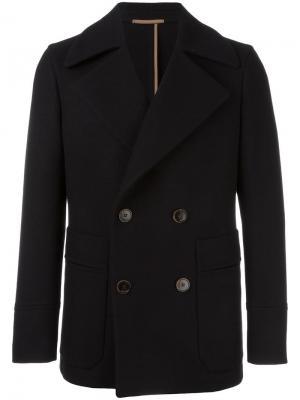 Двубортный пиджак Berluti. Цвет: чёрный