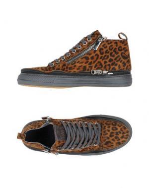 Высокие кеды и кроссовки ENRICO FANTINI. Цвет: коричневый