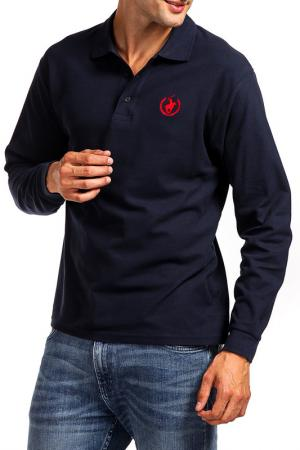 Рубашка-поло POLO CLUB С.H.A.. Цвет: синий