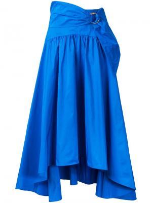 Плиссированная юбка с пряжкой Peter Pilotto. Цвет: синий