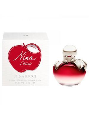 Парфюмерная вода Nina LElixir, 30 мл RICCI. Цвет: белый, красный