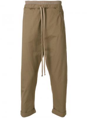 Укороченные брюки  с заниженной проймой Thom Krom. Цвет: зелёный