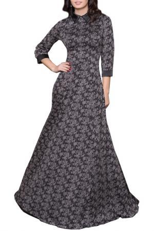 Платье Grey Cat. Цвет: черно-молочный