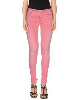 Джинсовые брюки 0/ZERO CONSTRUCTION. Цвет: светло-фиолетовый