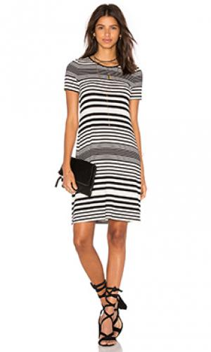 Платье oni three dots. Цвет: black & white