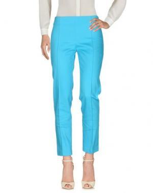 Повседневные брюки CRISTINA ROCCA. Цвет: лазурный