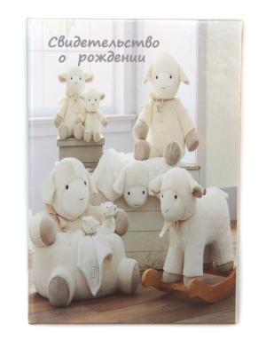 Обложка для свидетельства о рождении Lola. Цвет: светло-серый, белый, серый