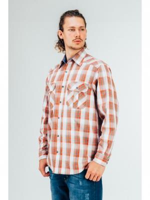 Рубашка Westrenger. Цвет: оранжевый