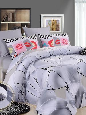 Комплект постельного белья, Граффити, евро KAZANOV.A.. Цвет: серый