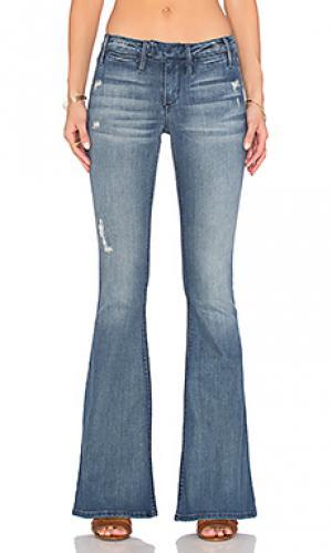 Расклёшенные от колена джинсы средней посадки ellie Black Orchid. Цвет: none