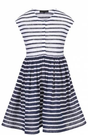 Мини-платье с завышенной талией в контрастную полоску Tegin. Цвет: разноцветный