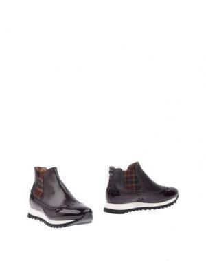 Полусапоги и высокие ботинки CALPIERRE. Цвет: красно-коричневый