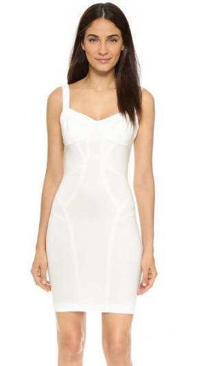 Платье-футляр с фигурными швами Ali & Jay. Цвет: белый