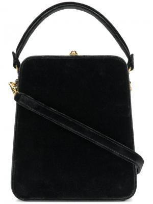 Удлиненная сумка Bertoni 1949. Цвет: чёрный