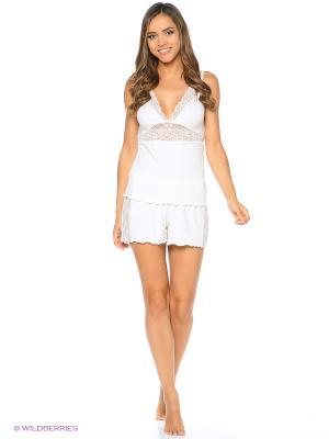 Пижама ASOLINDA. Цвет: молочный