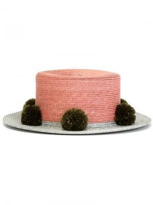 Шляпа Jupiter Eshvi. Цвет: розовый и фиолетовый