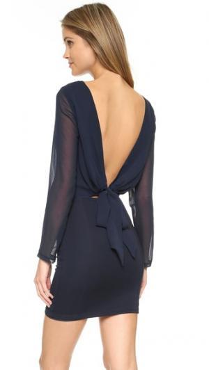 Двустороннее платье с драпировкой Freya Bec & Bridge. Цвет: чернильный