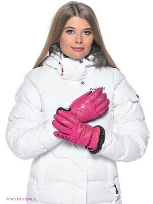 Перчатки Viking caps&gloves. Цвет: фуксия