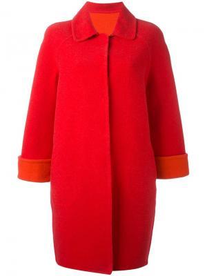 Классическое пальто с укороченными рукавами Gianluca Capannolo. Цвет: красный