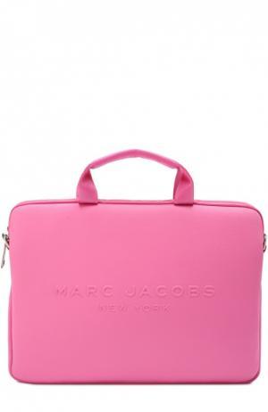 Сумка для ноутбука с логотипом бренда Marc Jacobs. Цвет: фуксия