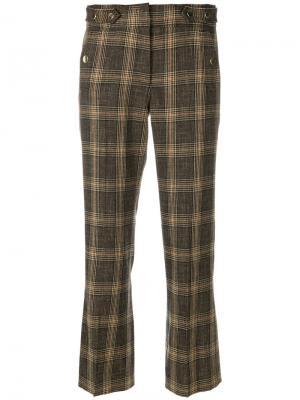 Укороченные брюки  в клетку Vanessa Bruno. Цвет: коричневый