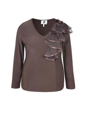 Блуза KR. Цвет: коричневый