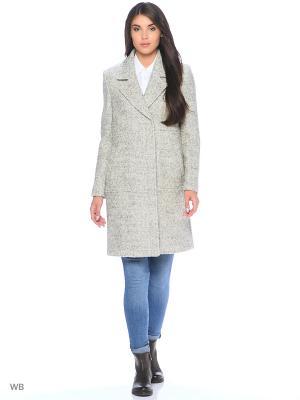 Пальто SELECTED. Цвет: серый меланж