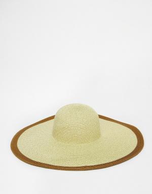 Echo Соломенная шляпа. Цвет: бежевый