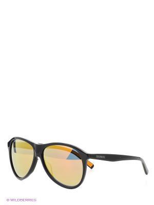 Очки солнцезащитные Bikkembergs. Цвет: коричневый, черный