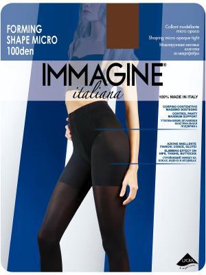 Колготки моделирующие Immagine. Цвет: коричневый